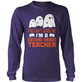 Second Grade - Ghosts - District Long Sleeve / Purple / S - 9