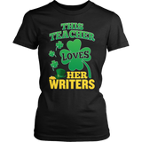 English - St. Patrick's Writers - District Made Womens Shirt / Black / S - 5