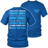 First Grade - Engage Minds - District Unisex Shirt / Royal Blue / S - 8