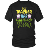 Second Grade - Eggcellent - District Unisex Shirt / Black / S - 7