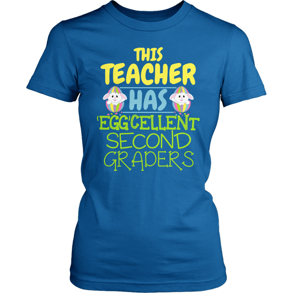 Second Grade - Eggcellent - District Made Womens Shirt / Royal / S - 1