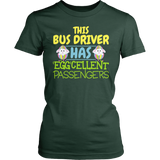 School Bus Driver - Eggcellent - District Made Womens Shirt / Forest Green / S - 3