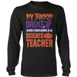 Science - My Broom Broke - District Long Sleeve / Black / S - 7