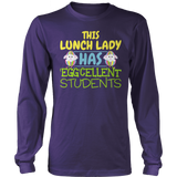 Lunch Lady - Eggcellent - District Long Sleeve / Purple / S - 10