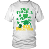 Math - St. Patrick's Mathematicians - District Unisex Shirt / White / S - 2