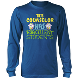 Counselor - Eggcellent Students - District Long Sleeve / Royal Blue / S - 9