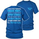Third Grade - Engage Minds - District Unisex Shirt / Royal Blue / S - 8