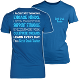 Sixth Grade - Engage Minds - District Made Womens Shirt / Royal / S - 4