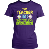 Kindergarten - Eggcellent - District Made Womens Shirt / Purple / S - 2
