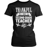 Second Grade - Thankful - District Made Womens Shirt / Black / S - 6