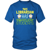 Librarian - Eggcellent - District Unisex Shirt / Royal Blue / S - 5