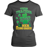 Second Grade - St. Patrick's Second Graders - District Made Womens Shirt / Charcoal / S - 7
