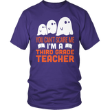 Third Grade - Ghosts - District Unisex Shirt / Purple / S - 6