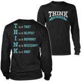 Teacher - THINK - District Long Sleeve / Black / S - 3