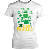 English - St. Patrick's Writers - District Made Womens Shirt / White / S - 6