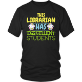 Librarian - Eggcellent - District Unisex Shirt / Black / S - 7