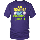 Teacher - Eggcellent - District Unisex Shirt / Purple / S - 6