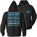First Grade - Engage Minds - Hoodie / Black / S - 12