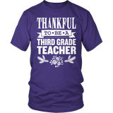 Third Grade - Thankful - District Unisex Shirt / Purple / S - 10