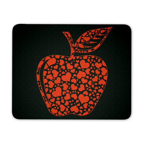 Teacher - Apple Hearts Mousepad - Mousepad - 1