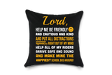 School Bus Driver Prayer Throw Pillow - Black - 1