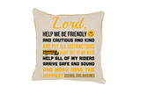 School Bus Driver Prayer Throw Pillow - Beige - 3
