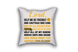 School Bus Driver Prayer Throw Pillow - White - 4