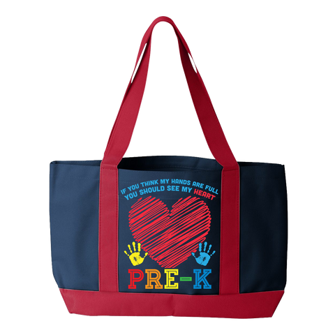 Preschool - Full Heart - Navy / Red - 1