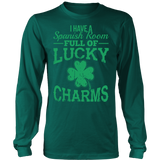 Spanish - Lucky Charms - District Long Sleeve / Dark Green / S - 6