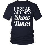 Theater - Show Tunes - District Unisex Shirt / Navy / S - 3