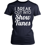 Theater - Show Tunes - District Made Womens Shirt / Navy / S - 13