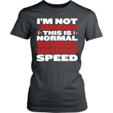 Secretary - Normal Speed - District Made Womens Shirt / Charcoal / S - 13