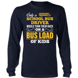 School Bus Driver - Turn Their Back - District Long Sleeve / Navy / S - 5