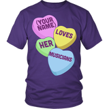Music - Candy Hearts - District Unisex Shirt / Purple / S - 4