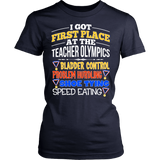 Teacher - Teacher Olympics - District Made Womens Shirt / Navy / S - 13