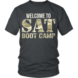 SAT Boot Camp - District Unisex Shirt / Charcoal / S - 3