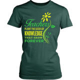 Teacher - Seeds of Knowledge - District Made Womens Shirt / Forest Green / S - 12