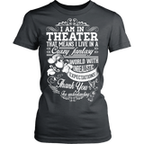 Theater - Crazy Fantasy - District Made Womens Shirt / Charcoal / S - 11
