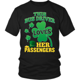 School Bus Driver - St. Patrick's Day Her Passengers - District Unisex Shirt / Black / S - 5