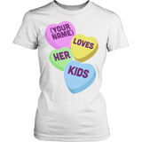Teacher - Candy Hearts Kids - District Made Womens Shirt / White / S - 13