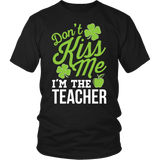 Teacher - Don't Kiss Me - District Unisex Shirt / Black / S - 3