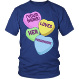 School Bus Driver - Candy Hearts - District Unisex Shirt / Royal Blue / S - 2