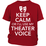 Theater - Keep Calm Voice - Kids - District Youth Shirt / Red / XS - 2