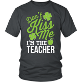 Teacher - Don't Kiss Me - District Unisex Shirt / Charcoal / S - 2