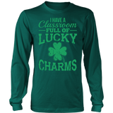 Teacher - Lucky Charms - District Long Sleeve / Dark Green / S - 6