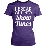 Theater - Show Tunes - District Made Womens Shirt / Purple / S - 11