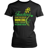 Teacher - Seeds of Knowledge - District Made Womens Shirt / Black / S - 7