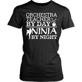 Orchestra - Teacher By Day - District Made Womens Shirt / Black / S - 10