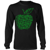 Teacher - Apple Clovers - District Long Sleeve / Black / S - 8