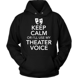 Theater - Keep Calm Voice - Hoodie / Black / S - 8